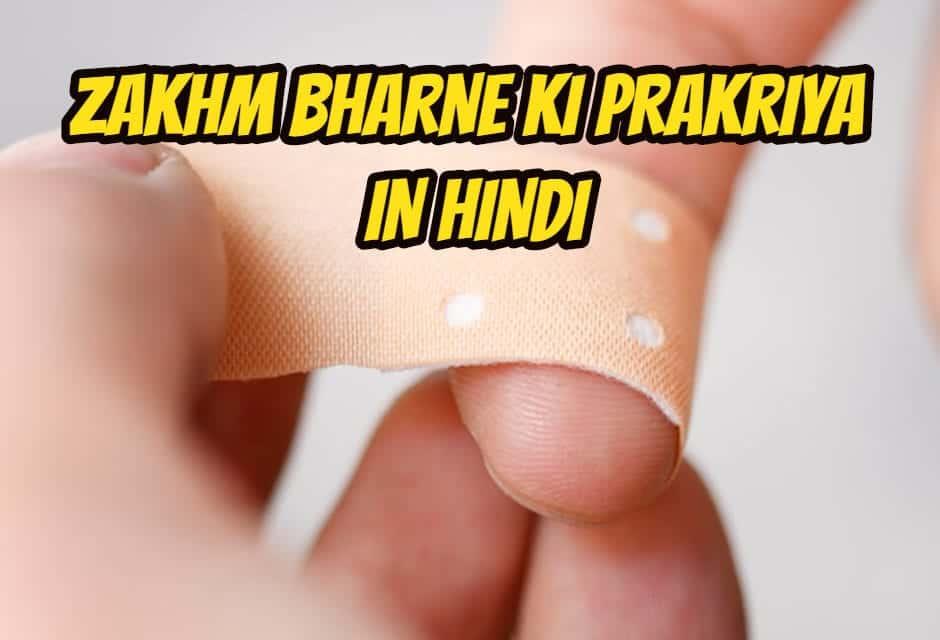 zakhm bharne ki prakriya in hindi