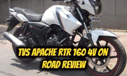 टीवीएस अपाचे आरटीआर 160 4वी का 10000 किलोमीटर पर रिव्यू – tvs apache rtr 160 4v black review in hindi