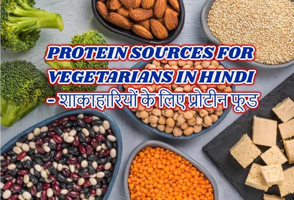 शाकाहारियों के लिए प्रोटीन फ़ूड्स – PROTEIN SOURCES FOR VEGETARIANS IN HINDI