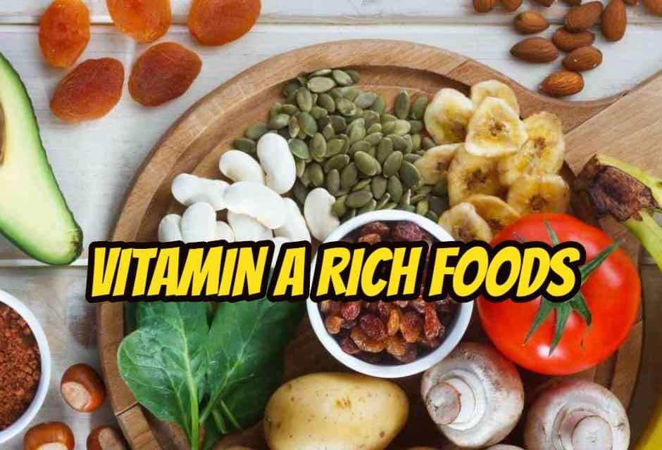 हाई विटामिन ए की मात्रा वाले फ़ूड्स – Vitamin A Rich Foods In Hindi