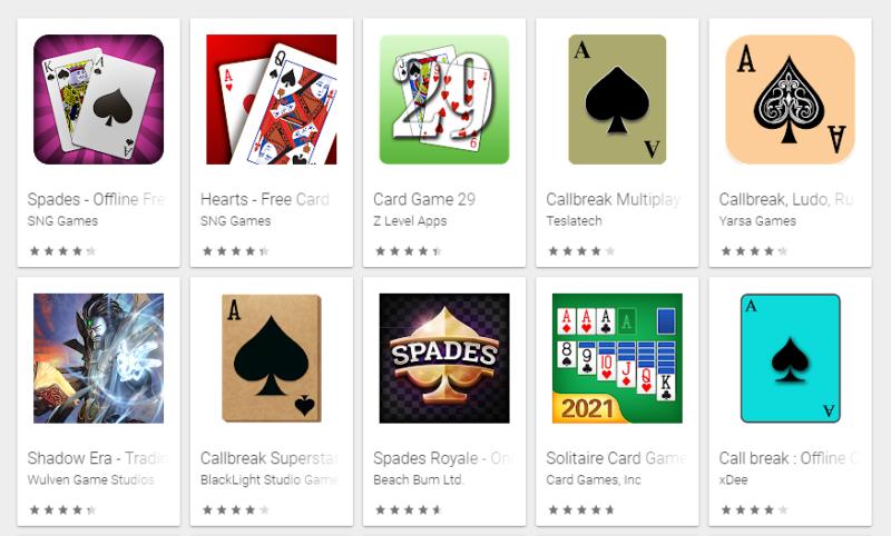 एंड्रॉयड फोन के लिए बेस्ट कार्ड गेम्स – Best card games for android